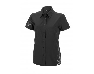 ROSE women's short-sleeved blouse black