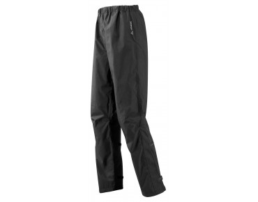 VAUDE FLUID II waterproof trousers – long inseam – black