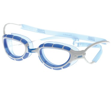 Zoggs Predator swimming goggles white-blue/clear lens