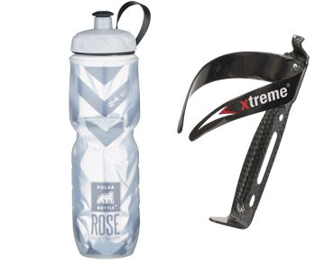 ROSE Thermos bottle Echt cool 700ml + Xtreme CA 66 bottle cage set