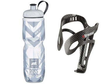 Xtreme ROSE Echt Cool thermo bottle 700 ml + Pro AL3CA bottle cage