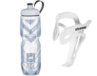 Xtreme ROSE 700ml Thermos bottle Echt Cool + Comp FH4 bottle cage set