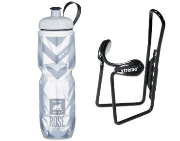 Xtreme thermos bottle Echt Cool + Protector Cage bottle cage set