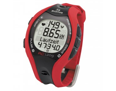 Sigma RC 1209 heart rate/running watch red