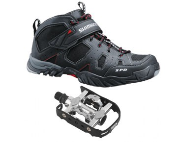 keine Marke MTB shoes + pedals set Shimano SH-MT53 & Xtreme Duo X black