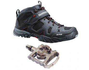 MTB shoes + pedals set Shimano SH-MT53 & Shimano PD-M324 schwarz