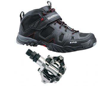 keine Marke MTB shoes + pedals set Shimano SH-MT53 & Shimano PD-M520 black
