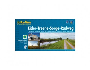 bike line map Eider-Treene-Sorge Cycle Route
