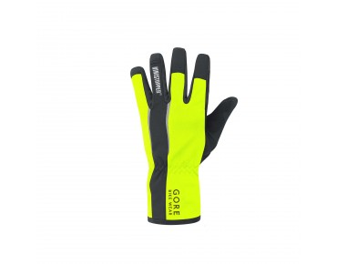 GORE BIKE WEAR POWER WINDSTOPPER SOFT SHELL gloves day-glo yellow