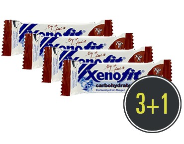 Xenofit carbohydrate bar, 3 + 1 free