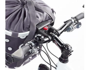 Reisenthel BIKEBASKET handlebar bag with KLICKfix mount bubbles-charcoal