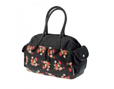 BASIL KATHARINA SHOULDER BAG women's bicycle bag black flower