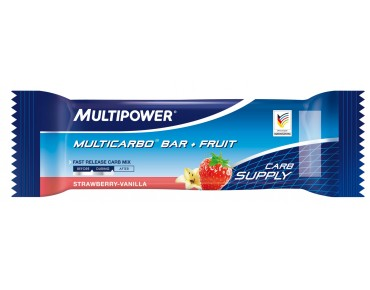 Multipower Riegel Multicarbo Bar + Fruit Strawberry-Vanilla