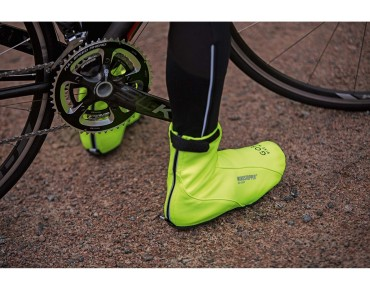 GORE BIKE WEAR ROAD WINDSTOPPER SOFT SHELL overshoes neon yellow