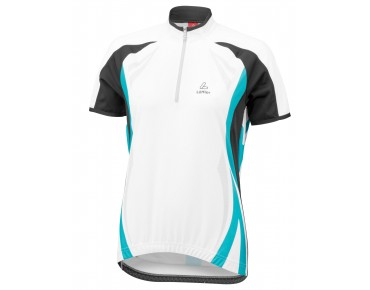 Löffler Women's jersey PERFORMANCE white/caribbean
