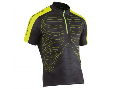 NORTHWAVE SKELETON jersey black/yellow