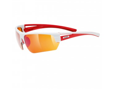 uvex Sportbrille GRAVIC (Set) white-red/lite mirror amber