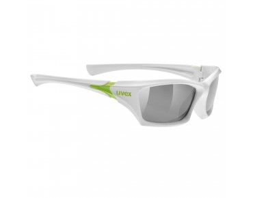 uvex sgl 501 kids' glasses white/lite mirror silver