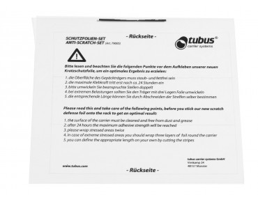 Tubus paint protection foil transparent