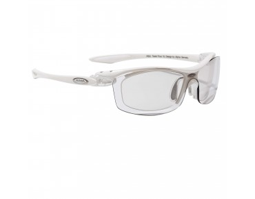 ALPINA TWIST FOUR VL+ Sportbrille inkl. Optikadapter shiny white/varioflex+ black