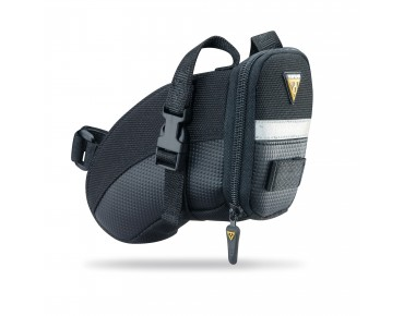 Topeak Small Aero Wedge Pack Strap saddle bag black
