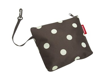 Reisenthel BIKEBASKET handlebar bag with KLICKfix mount mocha dots