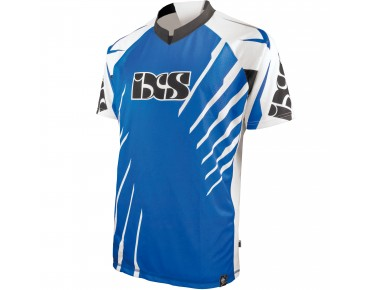 IXS Bike Shirt SHATTER white/blue