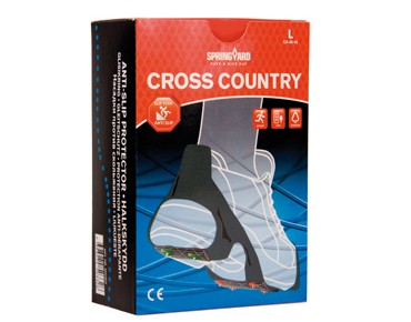 SPRINGYARD ice grippers CROSS COUNTRY schwarz