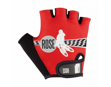 ROSE BIKER kids' gloves red/black