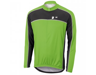 ROSE DESIGN III Langarmtrikot black/green