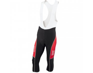 ROSE DESIGN III 3/4-length bib tights black/red