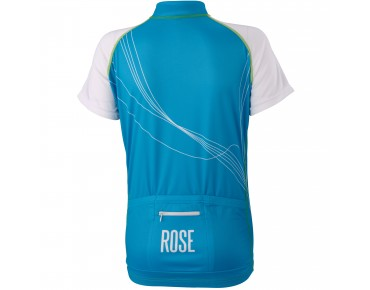 ROSE Women's jersey LINES turquoise/white