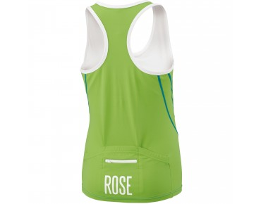 ROSE Damen Trikot ärmellos green/white