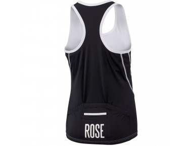 ROSE Damen Trikot ärmellos black/white