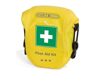 ORTLIEB FIRST AID KIT SAFETY LEVEL REGULAR - kit primo soccorso gelb