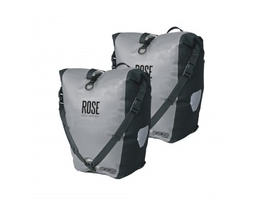 ORTLIEB/ROSE Back Roller Classic set of two pannier bags light grey/black