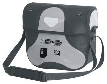 ORTLIEB/ROSE ORTLIEB ULTIMATE5 CLASSIC/ROSE handlebar bag light grey/black