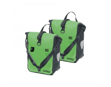 ORTLIEB/ROSE CLASSIC/ROSE Front Roller set of two pannier bags apple green/black