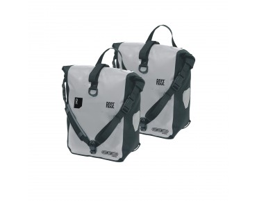 ORTLIEB/ROSE CLASSIC/ROSE Front Roller set of two pannier bags light grey/black