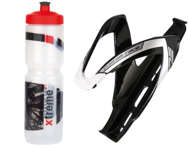 ROSE Xtreme Hobby drinks bottle 1 liter + Elite Custom Race cage set transparent