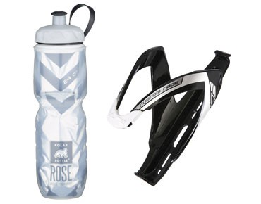 ROSE Thermos bottle Echt Cool 750ml + Elite Custom Race cage set