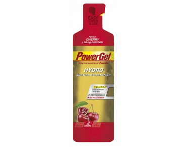 PowerBar Hydro gel- the carbohydrate supplier Cherry + Caffeine