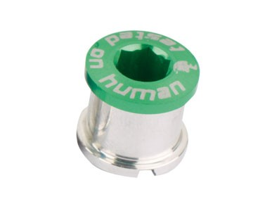 Shaman chainring bolts, set of four green