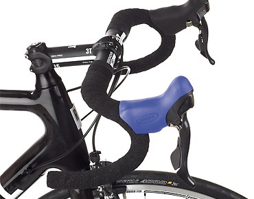 Hüdz brake/shift lever grip rubbers for Shimano Ultegra ST-6700/6703 blue