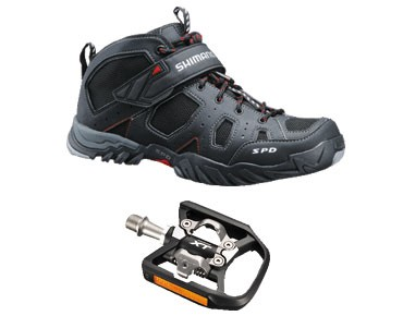 keine Marke MTB shoes + pedals set SHIMANO SH-MT53 & SHIMANO SPD XT PD-T780 black
