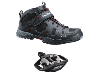 keine Marke MTB shoes + pedals set Shimano SH-MT53 & SHIMANO SPD PD-M530 black