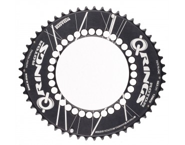 Rotor Q-Rings Aero 53 Zähne Kettenblatt schwarz