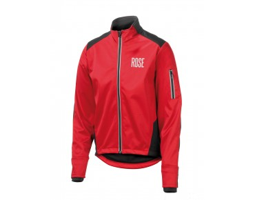 ROSE Rad Jacke WIND FIBRE (Thermo-Windschutz) red/black