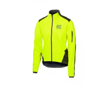 ROSE Rad Jacke WIND FIBRE (Thermo-Windschutz) neon/black