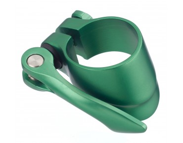ROSE seat post clamp with quick release green